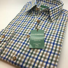 Men's Double Two Long Sleeve Country Check Brushed Cotton Winter Shirt. (GS3683)