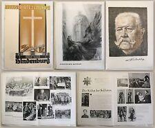Illustrierte Zeitung - Sondernummer zum Tode Hindenburgs 1934 - Memoiren - xz
