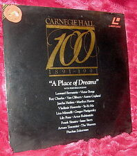 LD Laserdisc CARNEGIE HALL AT 100 A PLACE OF DREAMS music tribute 57 min doc