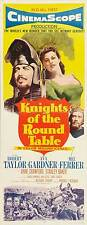 KNIGHTS OF THE ROUND TABLE Movie POSTER 14x36 Insert Robert Taylor Ava Gardner
