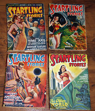 STARTLING STORIES (LOT OF 4) ALL1949 *VINTAGE SCI-FI PULPS * SEXY-cover art
