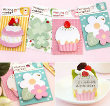 Cute Cupcake Flower Love Sticker It Bookmark Index Tab Memo Notepad Sticky CAMG