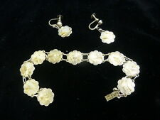 Vintage Japanese Silver W/ Gold Inlay Jewelry Set