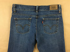 LEVI'S Womens Stretch 537 Low Flare Blue Jeans Tag Size 6 M Actual 29x30