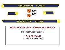 370 American Flyer GP7 Diesel Engine Water Slide Decal Set