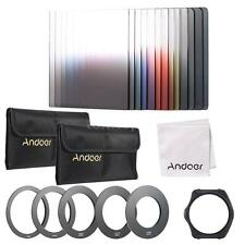 Andoer 13pcs Square Gradient Full Color Filter Bundle Kit for Cokin P Serie W3M6
