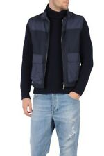 2,200$ Canali Navy Storm Protection Vest Size US Large or EU 52 Made in Italy