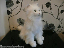 RARE****FURREAL FRIENDS LARGE WHITE INTERACTIVE KITTY CAT MOVES PURRS***VGC