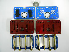 Holley QFT AED Billet Metering Block Kit 650 CFM Calibrated 4 Hole Emulsion Red