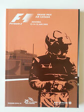 FORMULA 1 GRAND PRIX CANADA 2003 OFFICIAL PROGRAM