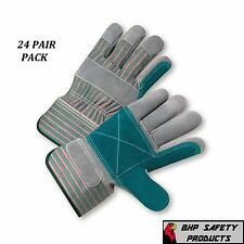DOUBLE PALM SPLIT LEATHER WORK GLOVE SIZE LARGE WEST CHESTER 500DP (24 PAIR)