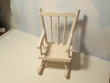 Accessory for Byers Choice Miniature White Wooden Country Rocking Chair