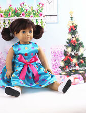 2017 Fashion Handmade New clothes dress for 18inch American girl doll party N3
