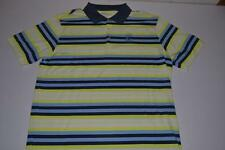 NIKE GOLF SAWGRASS TPC BLUE YELLOW STRIPED DRY FIT POLO SHIRT MENS SIZE LARGE L