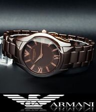 EMPORIO ARMANI LADIE'S BROWN ULTRA SLIM CERAMIC WATCH AR1445