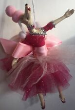 Katherine's Collection Retired Dancing Fifi Poodle Hot Pink Tree Ornament NOS
