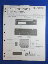 KENWOOD KDC-7001 7002 CD PLAYER CAR AUDIO SERVICE MANUAL ORIGINAL FACTORY ISSUE