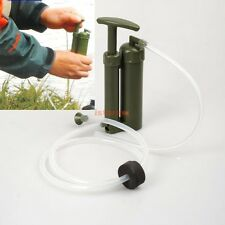 Portable Soldier Water Purifier Purification Pump Filter Backpacking Trip & case