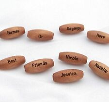 30 - PERSONALIZED Med Brown Melon Wood 5/8 Inch Beads