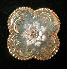 STUNNING!!! RARE!! 4-LOBED ANTIQUE QUATREFOIL LACY GLASS BUTTON