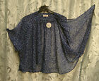 OVERSIZED OPEN DRAPE FRONT SEMI-SHEER CHIFFON SMOCK CARDIGAN JACKET TOP~2X~3X~NW