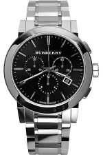 Burberry Large Check BU9351 Black Dial Swiss Quartz Stainless Steel Men Watch