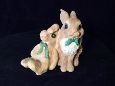 STONE CRITTERS 2 BUNNIES Real and Stuffed