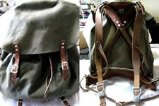 "Swedish Army Rucksack - Metal base - Leather Straps/Buckles 17"" Tall x 18"" Wide"