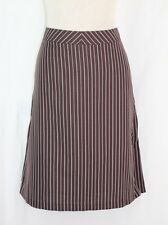 TO THE MAX Pencil Skirt SIZE 10 Large Brown Orange White Pin Stripe Career