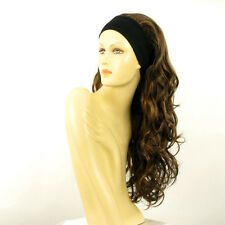 headband wig long wavy wick chocolate light copper : KAMELYA 627c