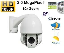 Onvif IR-CUT HD 2MP 1080P 10xZoom PTZ IP Camera Outdoor High Speed IR Dome