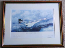 Concorde Queen of the Skies Ltd Ed Print signed by Artist and Captain Jock Lowe