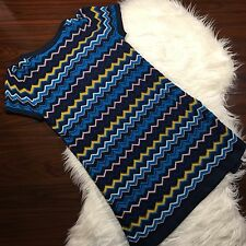 Missoni for Target Vintage Inspired Shift Dress Short Sleeve Chevron Size Medium