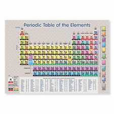 NUOVO 2016 A3 stratificato tavola periodica degli elementi di scienza POSTER educativo