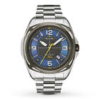 Bulova Men's 98B224 Precisionist Stainless Steel Black & Blue Dial Watch