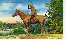 KANSAS CITY,MISSOURI-THE SCOUT STATUE-INDIAN ON A HORSE-(STATUE-185)
