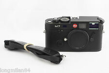 *EXC+* Leica M7 0.72 Black Chrome Rangefinder Camera body 10503