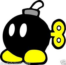 "Super Mario Bomb 4"" Vinyl Decal Window Car Vehicle Sticker Emblem Nintendo"