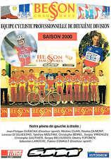 Plaquette présentation équipe Besson Chaussures 15x21 24pp 2000 2e division