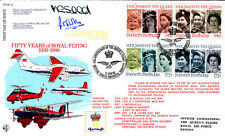 R FDC 43  Full Set of 60th Birthday Her Majesty THe Queen Flown & Signed