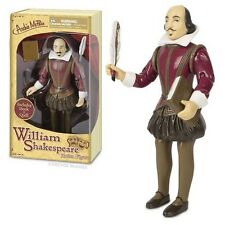 William Shakespeare Action Figure With Book And Quill Pen Writers Toy Novelty