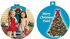 Personalized Chrtimas tree Custom Ornament Doll Little Girl any name / text Cute