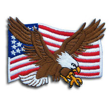 American Flag Eagle Military Patch Iron On Vest Harley Biker Motorcycle Chopper