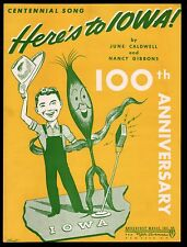Here's To Iowa 1946 100th Anniversary Does that look like Ronald Reagan? Sheet M