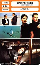 Fiche Cinéma. Movie Card. Ultime décision/Executive decision (USA) 1996