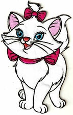 "Disney's ARISTOCAT'S Marie 7"" Tall EMBROIDERED PATCH LOVELY"