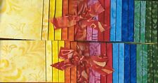 DUO of PRETTY BATIK JELLY ROLLS  VIBRANT fabrics for QUILT BLOCKS TOPS - AWESOME