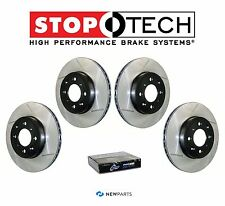 Acura TL 2004-2008 Front & Rear StopTech SportStop Slotted Brake Rotors Set Kit