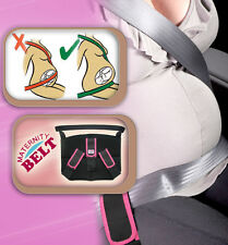 Pink TRIPLE SUPPORT ADVANCED MATERNITY PREGNANCY SEAT BELT BAND CAR BABY SAFETY