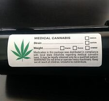 100 GREEN LEAF - Medical Marijuana Labels - ALL STATE COMPLIANT Cannabis 420